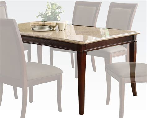 acme white marble dining table ac70060a