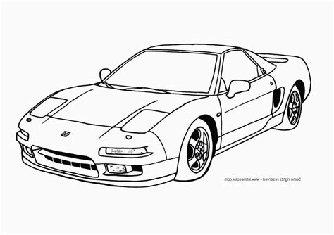 cool car coloring pages for boys acura nsx page 467678
