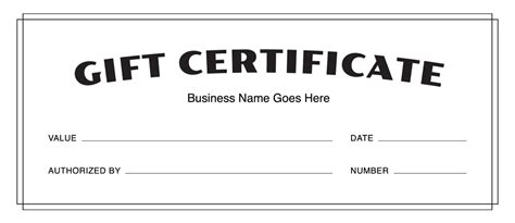 blank gift card template business gift certificate template template