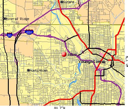 zip code map youngstown ohio youngstown zip codes map my blog