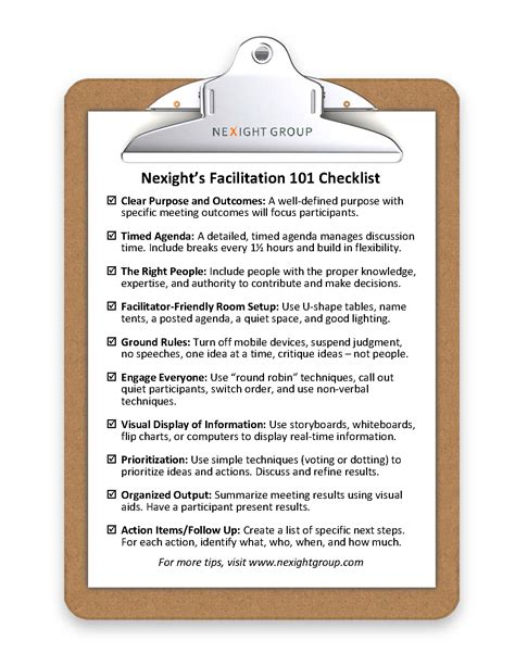 checklist for successful meetings news insights