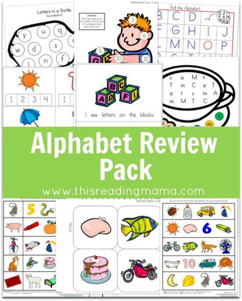 Letter Review Alphabet Review Pack Updated Expanded