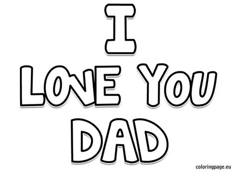 coloring pages love dad i love you dad coloring page father s day pinterest