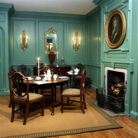 recreated georgian room c 1790 with mahogany furniture
