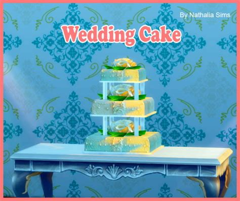Wedding Cake In The Sims 4 by Cake 187 Sims 4 Updates 187 Best Ts4 Cc Downloads