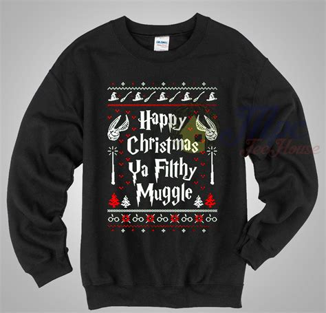 Sweater Muggle happy ya filthy muggle harry potter sweater
