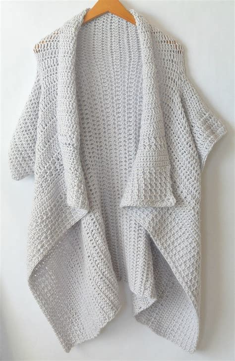 Cardigan Pattern Easy | cascading kimono cardigan crochet pattern mama in a stitch