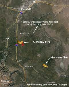 fires in arizona map arizona coconino national forest managing two less than