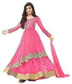 Home Decor Flipkart buy pink net embroidered unstitched salwar with dupatta online