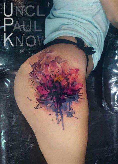 tattoo designs your bum lotus thigh butt tattoo tattoos and piercings