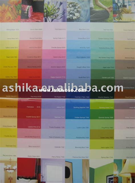 universal architectural paints color card for sale price manufacturer supplier 2821301