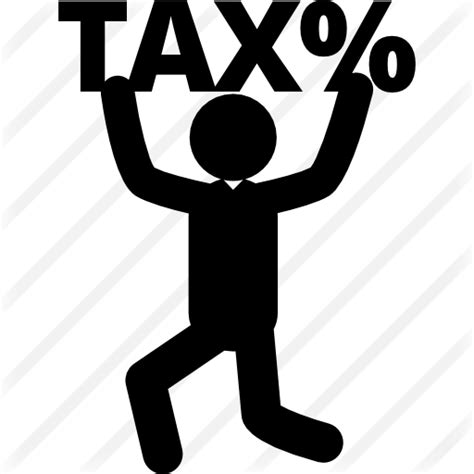 Man with tax percentage signal - Free business icons