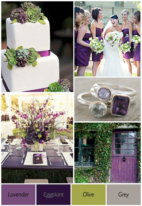 color theme ideas shades of purple wedding theme weddingbee