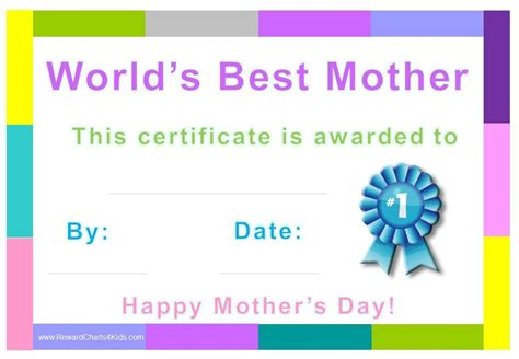 s day certificate best award customize print at home