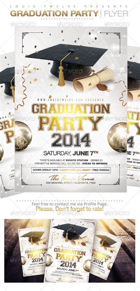 Graduation Party Flyer Template By Louistwelve Design Graphicriver Graduation Flyer Template Free