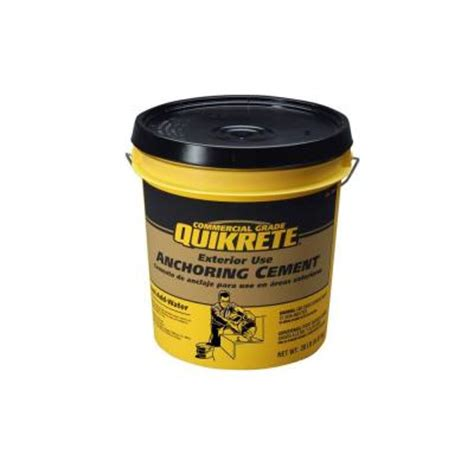 quikrete 20 lb anchoring cement 124520 the home depot