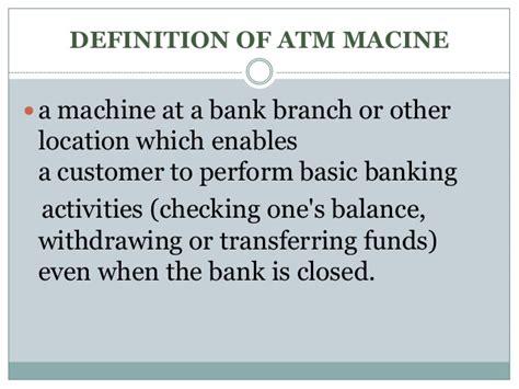 define machina atm machine