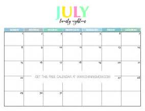 Calendar 2018 July August Free Printable 2018 Calendar Pretty And Colorful