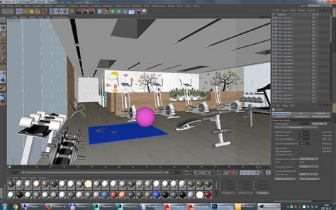 Fitness Center Software by Fitness Interior Design Idea With Area 3d Model