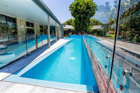 how big is a lap pool korora lap pool elevated glass spa atlas pools