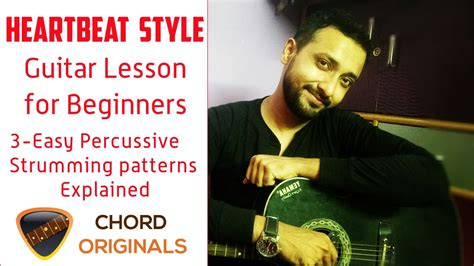 guitar tutorial for beginners youtube heartbeat guitar lesson for beginners 3 easy percussive