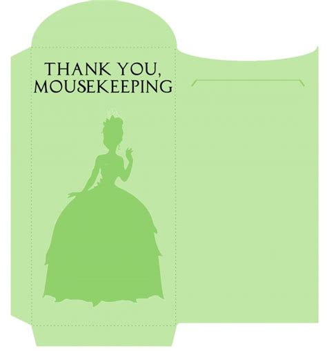 printable housekeeping tip envelopes 17 best images about everything disney tipping