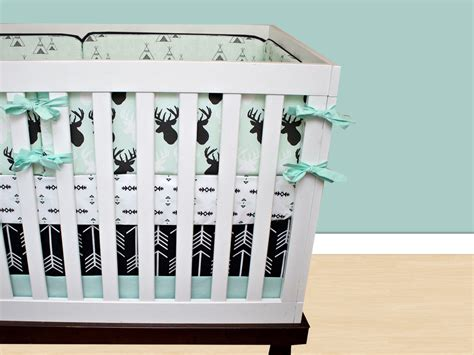 Baby Boy Deer Crib Bedding Deer Crib Bedding Baby Boy Bedding Cribset Mint Black And