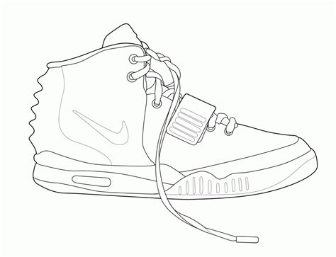 shoe coloring page template shoe outline template coloring home