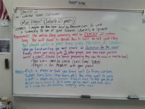 good themes for english projects preterite vs imperfect project idea spanish grammar