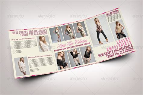 fashion tri fold brochure template by bagera graphicriver
