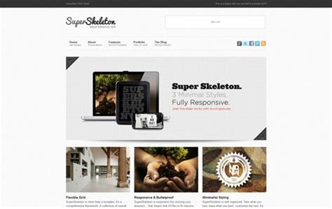 skeleton responsive template responsive design 35 new premium web templates