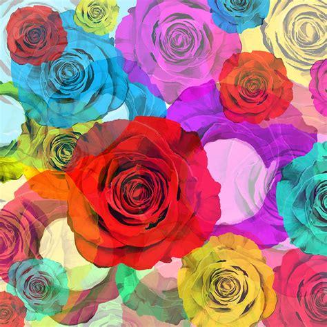 Designer Ipad Case by Colorful Floral Design Painting By Setsiri Silapasuwanchai