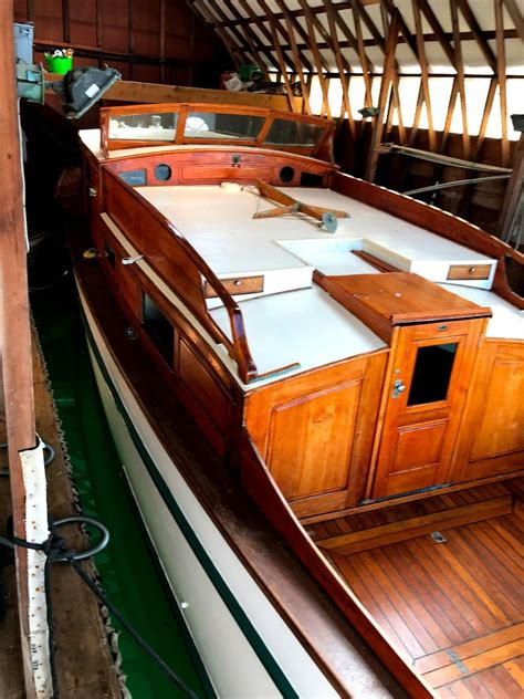 specified woodworking fellows and stewart classic wood yacht 1935 for sale for