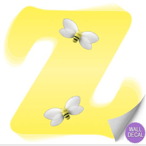 Bumble Bee Wall Stickers name wall letters alphabet stickers initial decals girls
