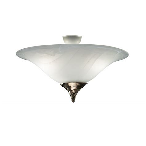 Ceiling Light Uplighter Spiral Semi Flush Marbled Glass Low Ceiling Lighting