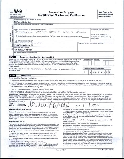 printable w 9 form download download w9 old town media inc old town media inc