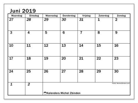 kalender juni  mz afdrukbare kalenders kalender en maandkalenders