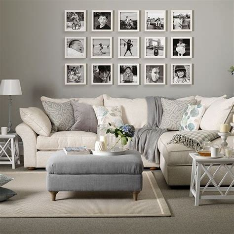 living room display living room decorating ideas housetohome co uk grey and taupe living room with photo display living