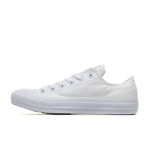 Converse All Low White converse all monochrome canvas low white all34w