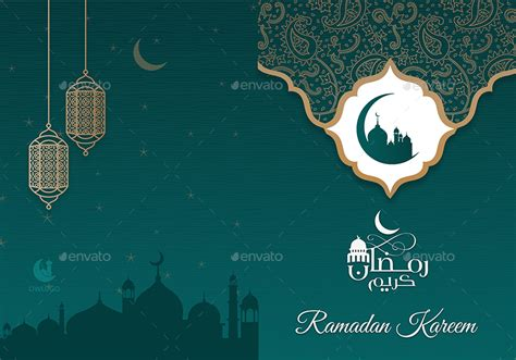 Eid Greeting Card Template by Ramadan Kareem Greeting Card By Owpictures Graphicriver