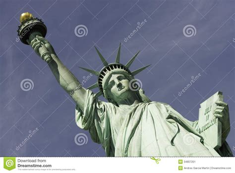 liberty out of a clear blue sky books statue of liberty new york city stock image image 34807201