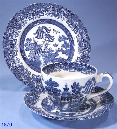 vintage china patterns wedgwood co willow pattern vintage china tea trio sold