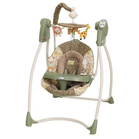 safari baby swing mom mart product review graco lovin hug swing in safari sun
