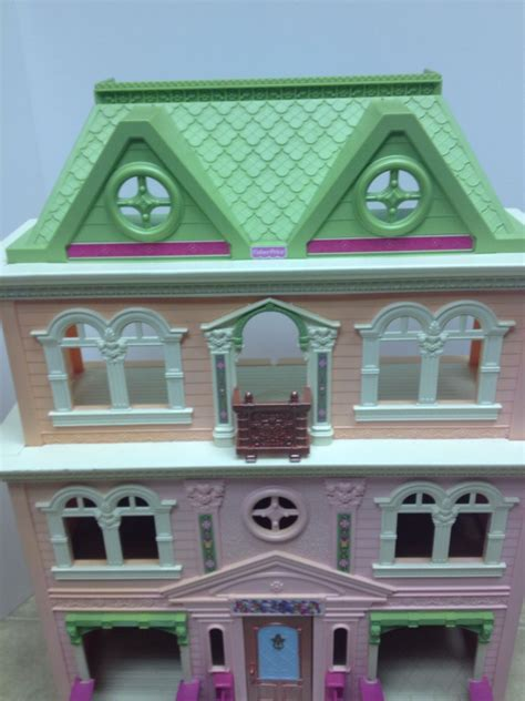 fisher price dollhouse pink grand mansion loving family 3
