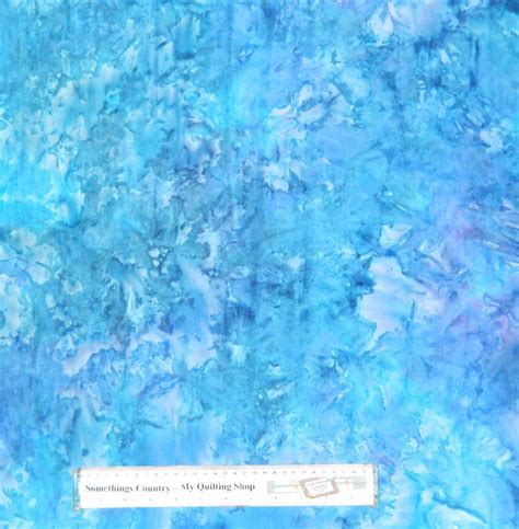 Batik Patchwork Fabric - patchwork quilting sewing fabric azure blue batik allover