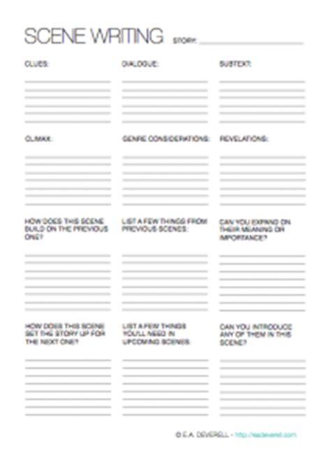 write  scene writing worksheet wednesday
