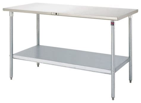Stainless Steel Work Table Used As Kitchen Island   House