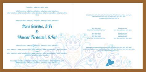 desain undangan pernikahan lipat 3 mataroni jasa desain undangan pernikahan