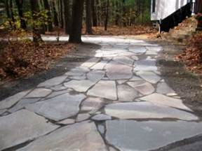 stone driveway by natural earth garden designs