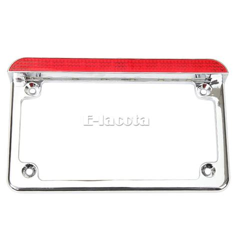 motorcycle license plate frame with led brake light motorcycle aluminum led license plate frame with led